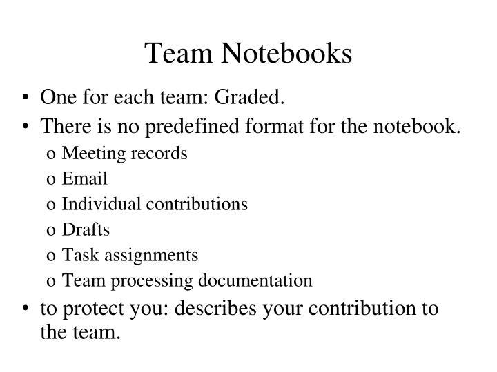 Team Notebooks