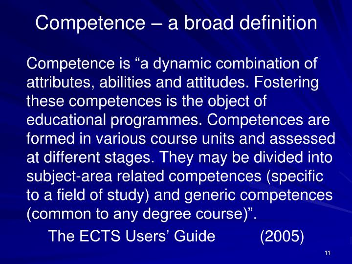Competence is