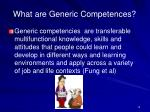 what are generic competences