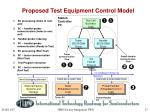 proposed test equipment control model
