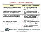translating test metrics to reality
