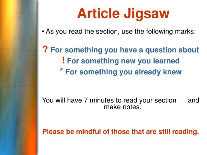 Article Jigsaw