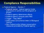 compliance responsibilities