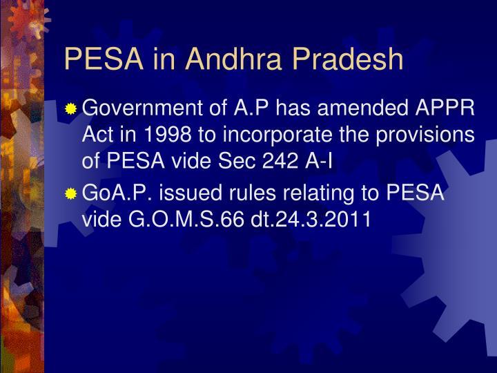PESA in Andhra Pradesh