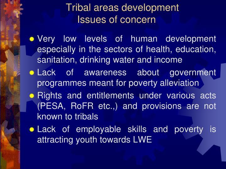 Tribal areas development