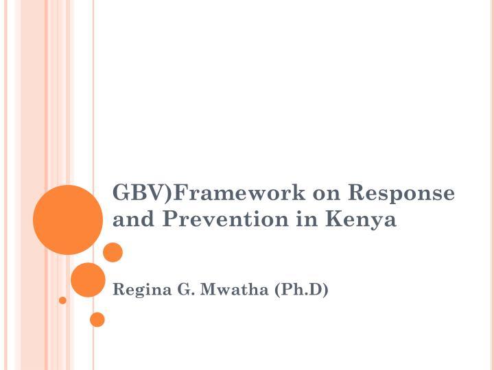 GBV)Framework
