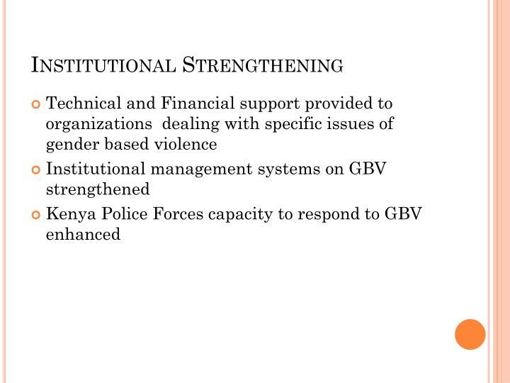 Institutional Strengthening