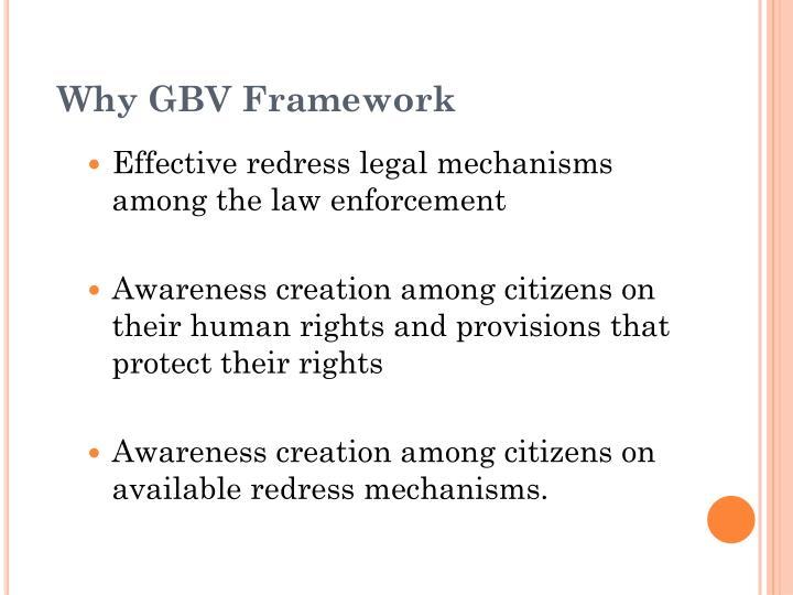 Why GBV Framework