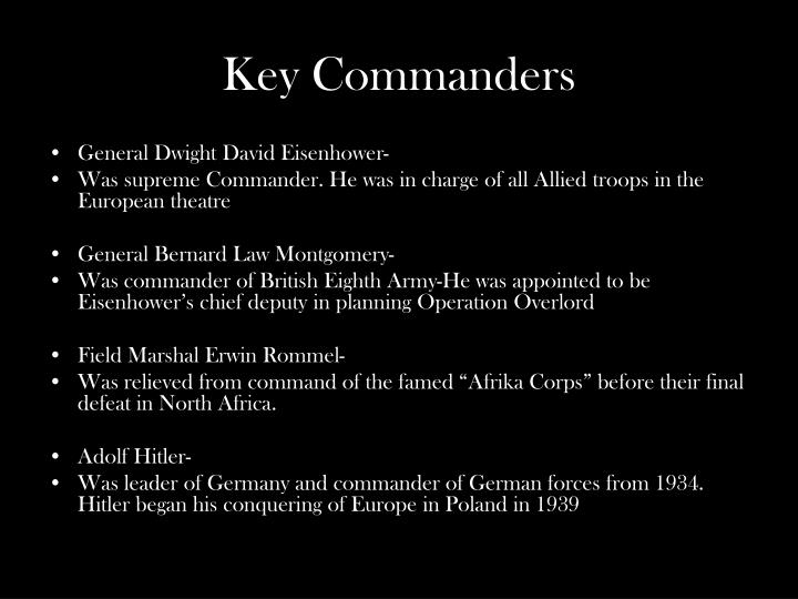 Key Commanders