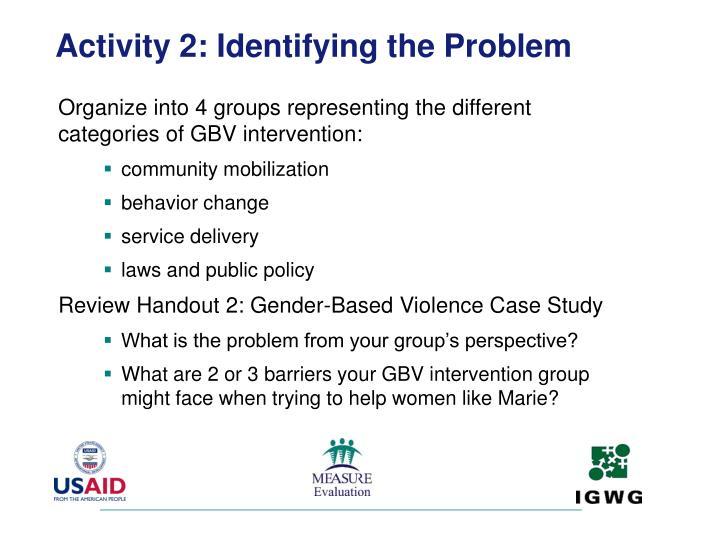Activity 2: Identifying the Problem