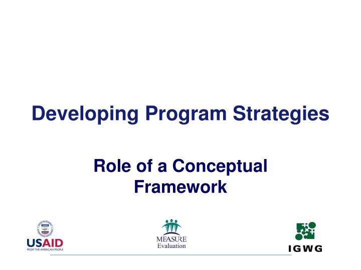 Developing Program Strategies