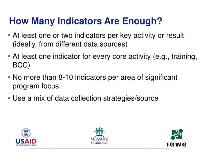 How Many Indicators Are Enough?