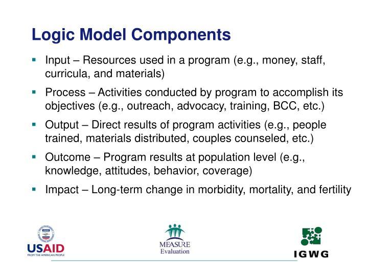Logic Model Components