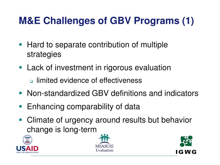 M&E Challenges of GBV Programs (1)