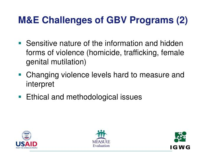 M&E Challenges of GBV Programs (2)