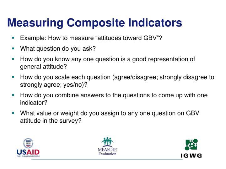 Measuring Composite Indicators