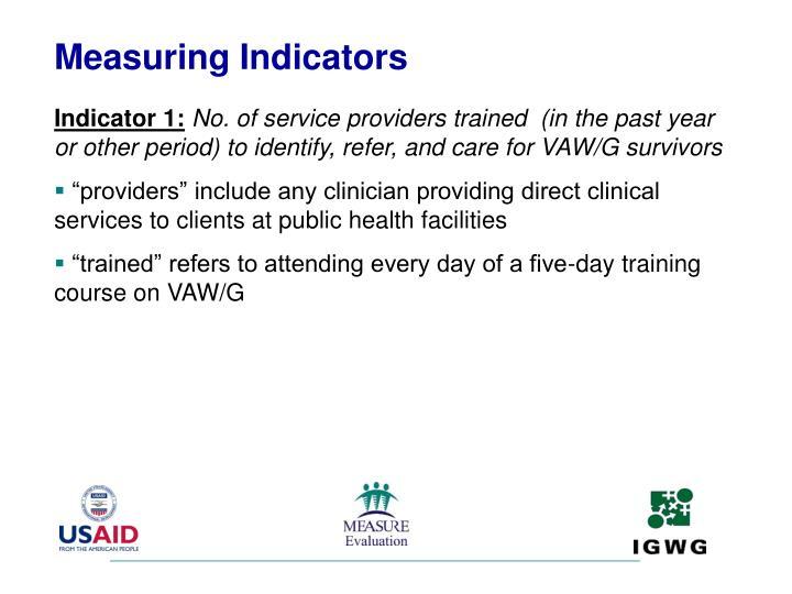 Measuring Indicators