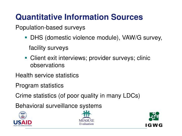 Quantitative Information Sources