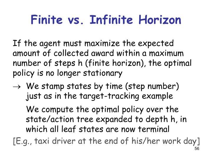 Finite vs. Infinite Horizon