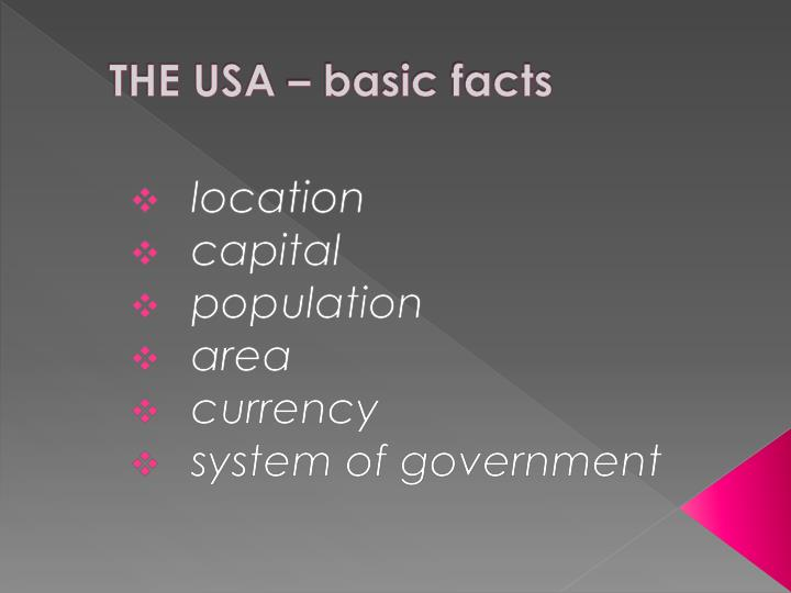 The usa basic facts
