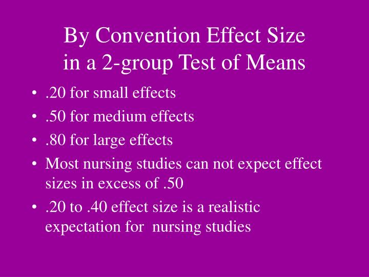 By Convention Effect Size