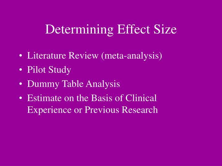 Determining Effect Size