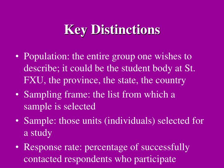 Key Distinctions