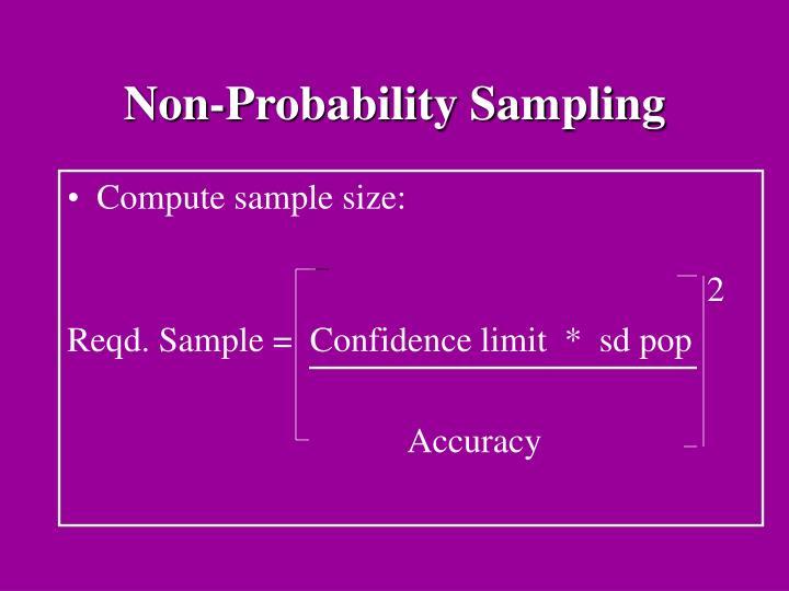 Non-Probability Sampling