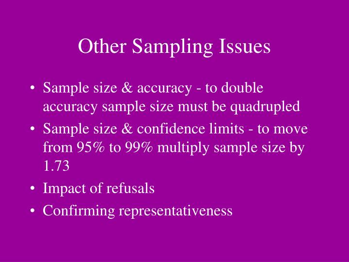 Other Sampling Issues