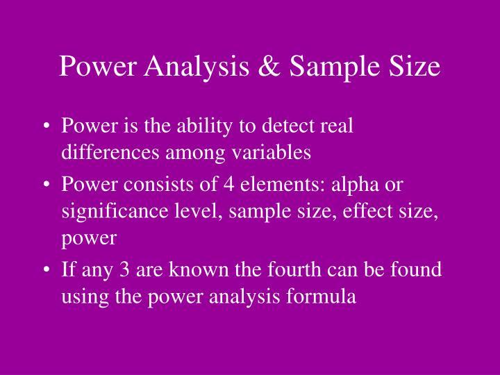 Power Analysis & Sample Size