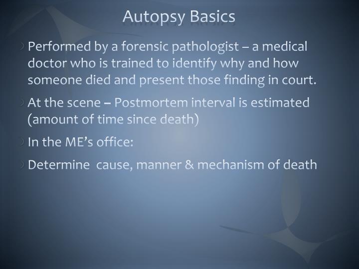 Autopsy Basics