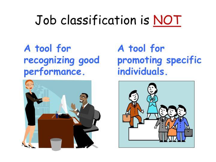 Job classification is