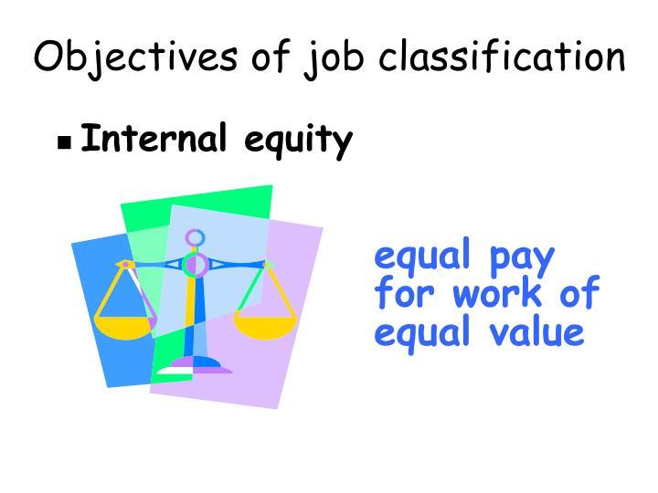 Objectives of job classification