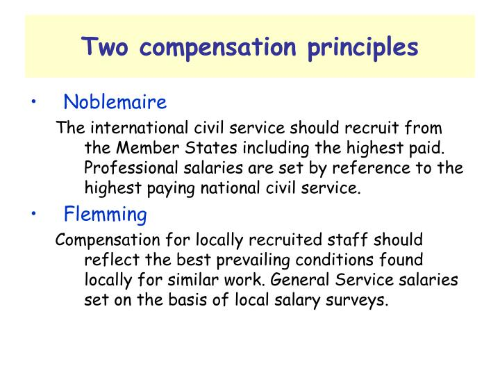 Two compensation principles