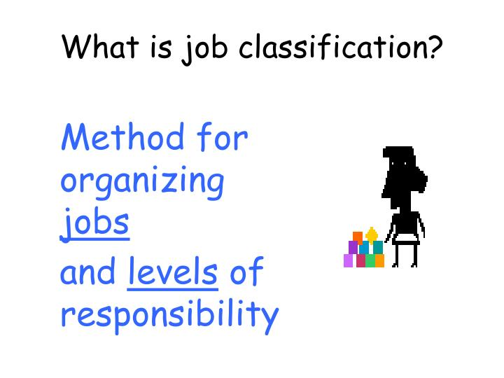 What is job classification?