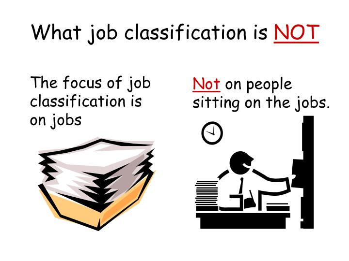 What job classification is
