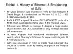 exhibit 1 history of ethernet envisioning of gjn