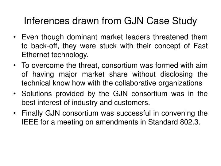 Inferences drawn from GJN Case Study