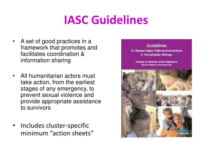 IASC Guidelines