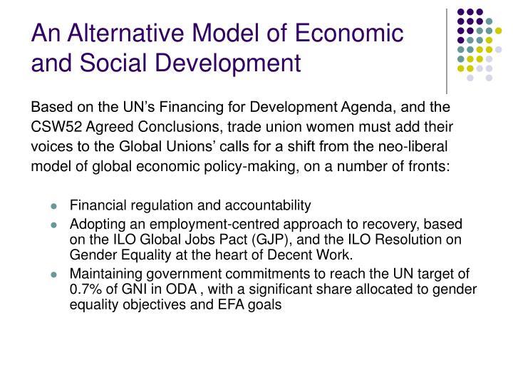 An Alternative Model of Economic and Social Development