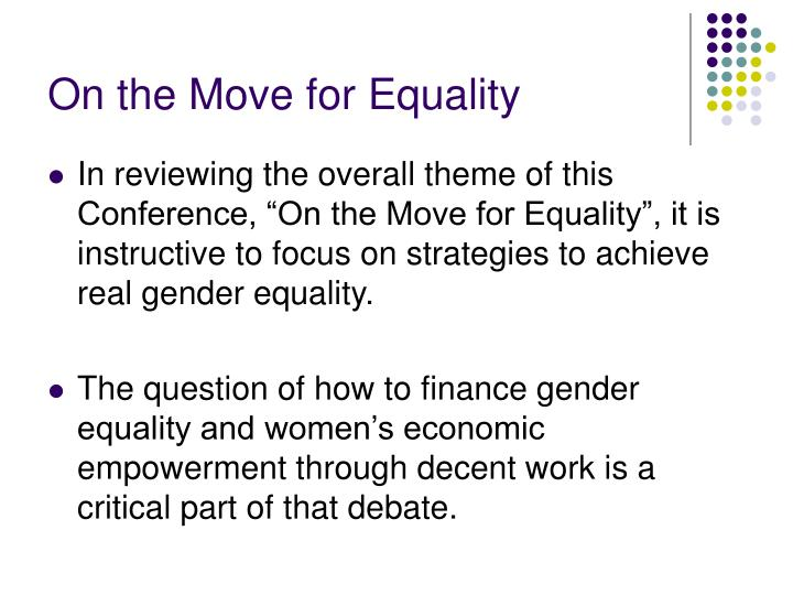 On the Move for Equality