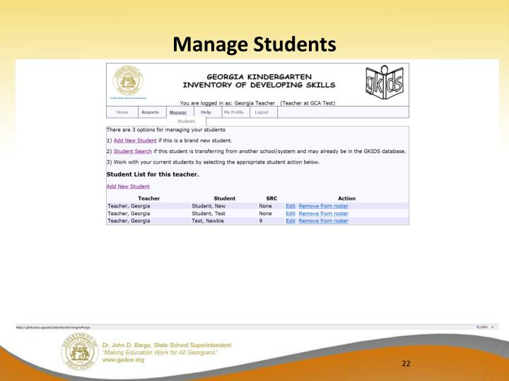 Manage Students