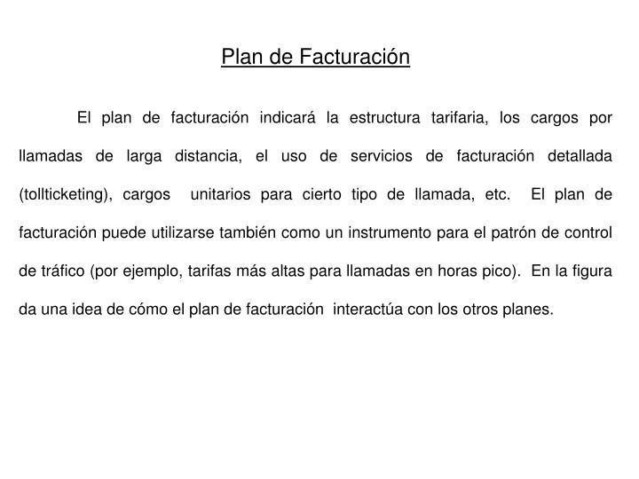 Plan de Facturación