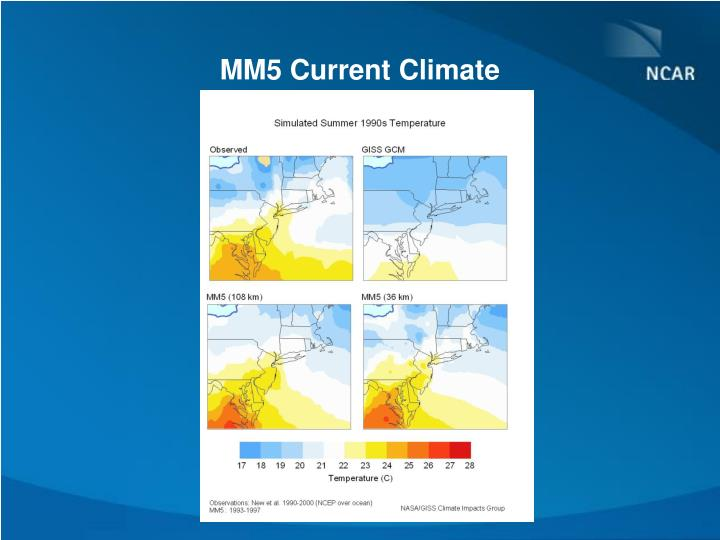 MM5 Current Climate