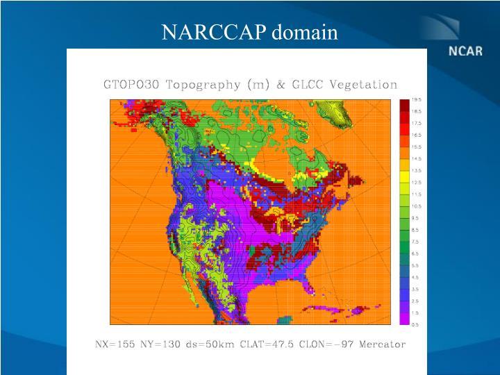 NARCCAP domain