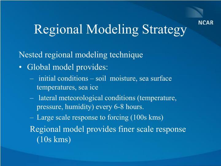 Regional Modeling Strategy