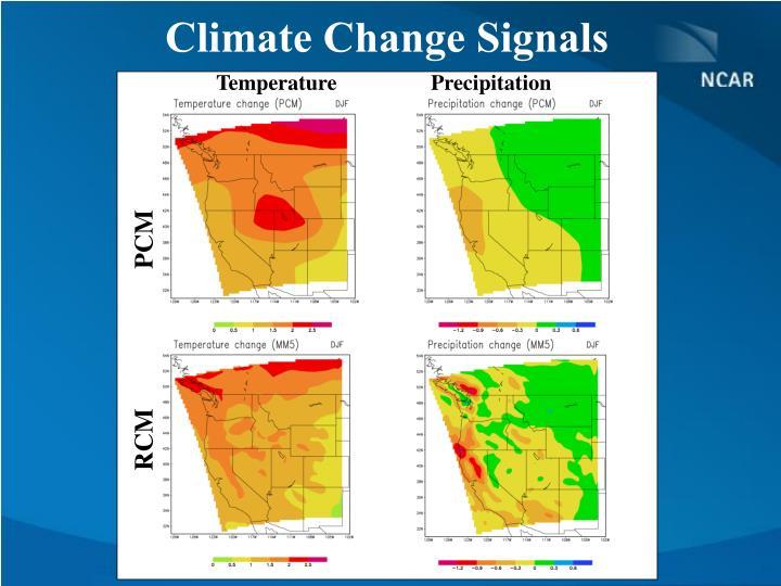 Climate Change Signals