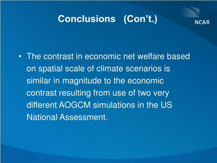 Conclusions   (Con't.)