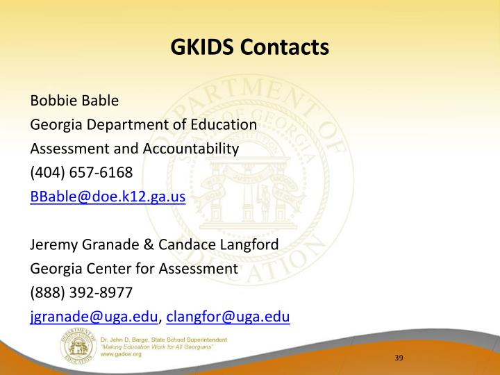 GKIDS Contacts
