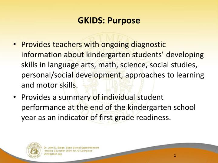 GKIDS: Purpose